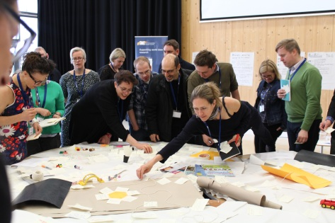 Participants were asked to arrange their 'assets' on the tables to connect and expand upon our core themes: mobilities; civic participation; health and well-being; public space.