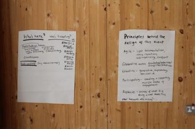 Our principles for the workshop: Agile; Participatory; Collaborative; Creative; Reflexive